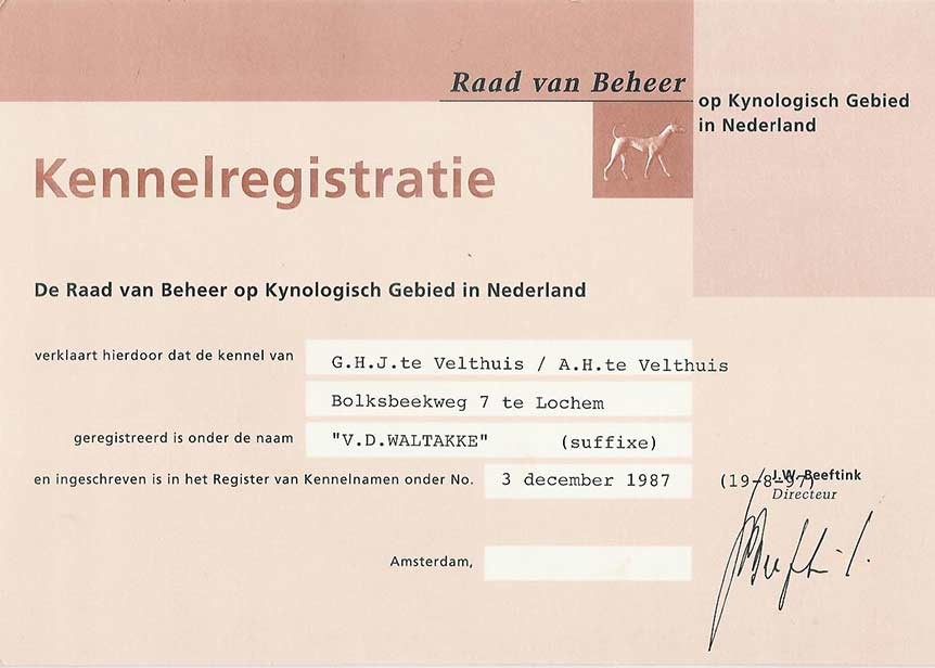 Kennelregistratie
